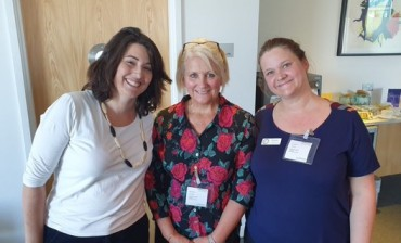 Natalie with COTS's Kim and Surrogacy UK's Sarah