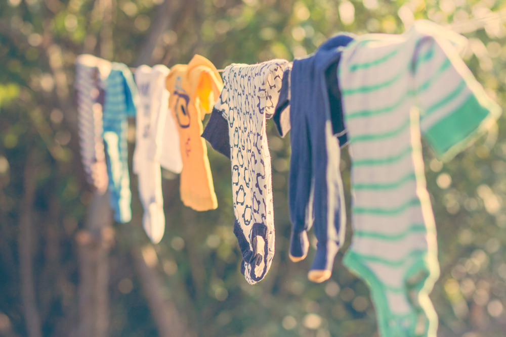 baby clothes on a line